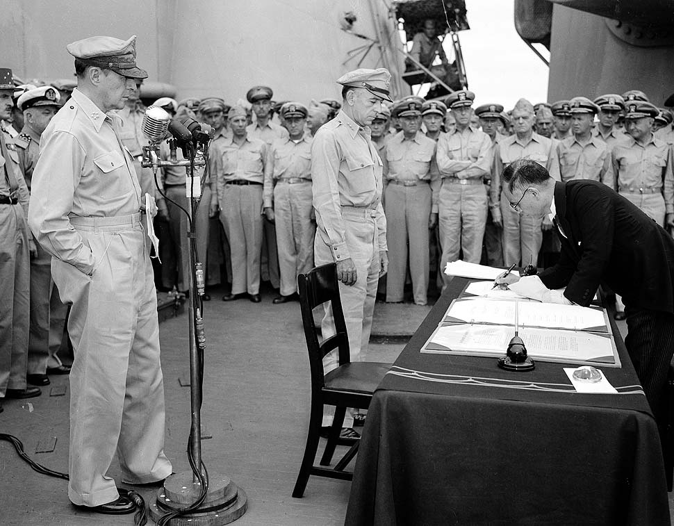 Japan Surrenders on USS Missouri